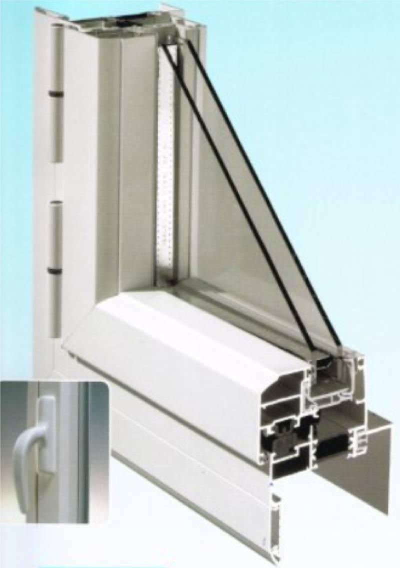 Fen tre aluminium ouvrant cach menuiseries doumenc for Menuiserie aluminium fenetre
