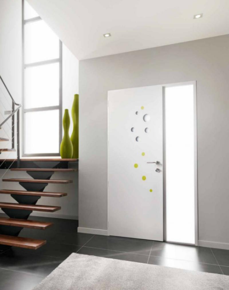 porte d 39 entr e aluminium sur mesure k line toulouse menuiseries doumenc. Black Bedroom Furniture Sets. Home Design Ideas