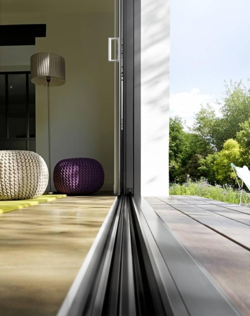Nouveau coulissant aluminium 2 vantaux k line toulouse - Coulissant 2 vantaux ...