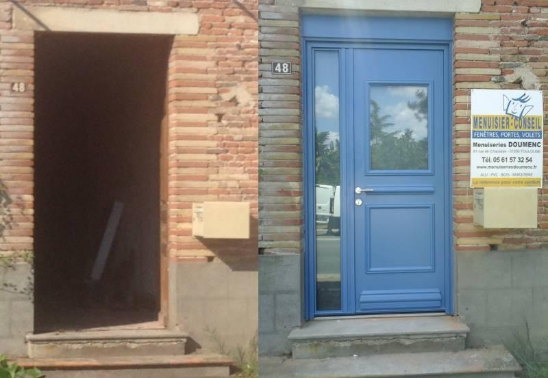 R nover une vieille porte d 39 entr e en bois toulouse menuiseries doumenc - Reparer une porte d entree en bois ...