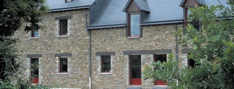 Rénovation menuiseries, fenêtres aluminium K-LINE laquées rouge ...