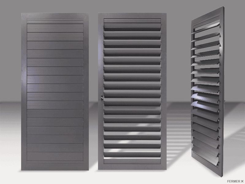 volets battants aluminium lames orientables menuiseries doumenc. Black Bedroom Furniture Sets. Home Design Ideas
