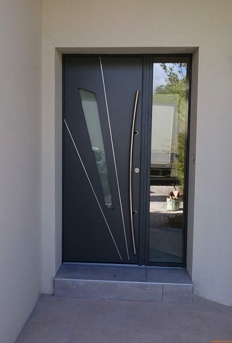 Installateur de porte d entrée moderne aluminium K-LINE à Toulouse ... df76a88996a
