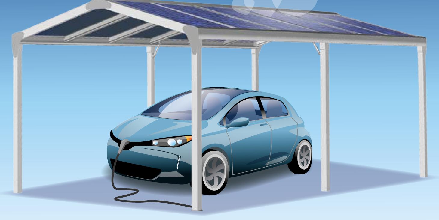 pergola abri de voiture panneaux solaires. Black Bedroom Furniture Sets. Home Design Ideas