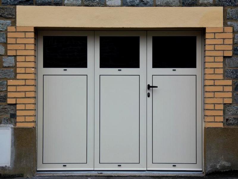 Porte de garage battante en aluminium 3 vantaux ou 4 - Porte de garage a enroulement prix ...