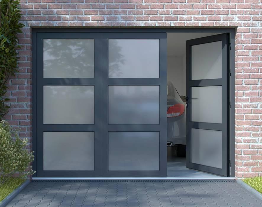 Installer une porte de garage battante vitr e et isol e en aluminium sur mesure balma - Porte garage isolee ...