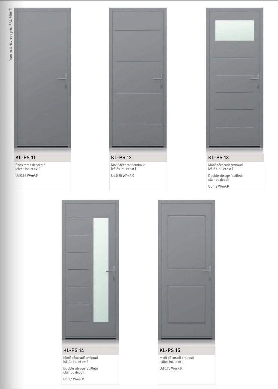 Porte de service aluminium sur mesure design - Menuiseries Doumenc 7f40afeadb8